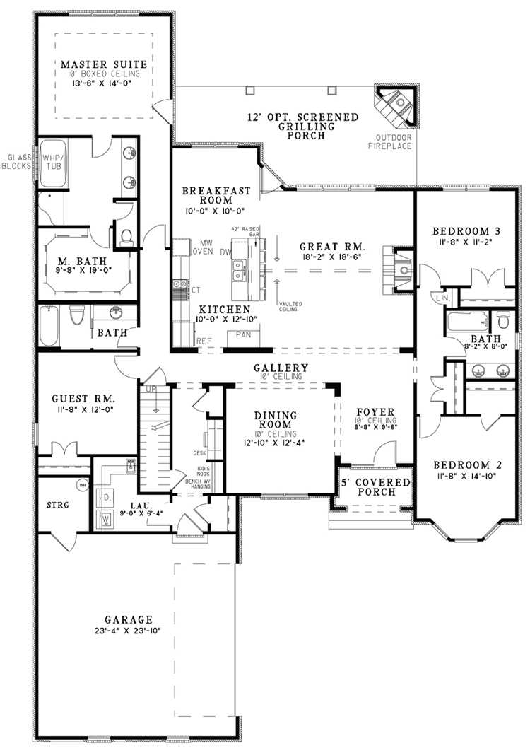 Small house plans open floor for Small house design with floor plan