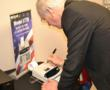 Congressman Bill Foster visits Victor Technology for the launch of the only ink printing calculator built in America.