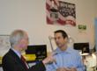 Congressman Foster discussing Economic issues with John Ringlein, President of Victor Technology
