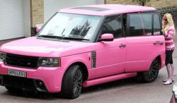 Katie Price's Pink Range Rover