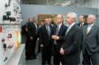Balluff Inc. President Kent Howard showing Gov. Beshear just a few of Balluff's many product displays.