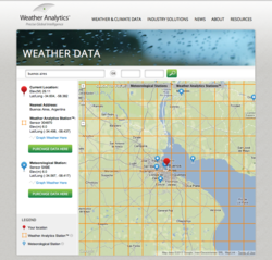 Weather Analytics Interactive Weather Map