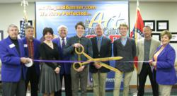 Fayetteville Chamber of Commerce hosts Arkansas Flag and Banner North West Arkansas Office ribbon cutting.
