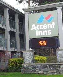 Accent Inn Victoria Hotel opened the next day after the fire