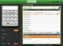 CMDN Cricket Scorecaster interface - As simple as a simple Calculator