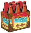 Longboard Island Lager, single 12oz bottle with new label and embossing