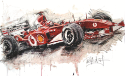 Armin Flossdorf Ferrari F1 Art The Fairmont Queen Elizabeth