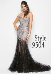 Blush Prom Dress Style 9504 in Black www.blushprom.com