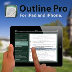 Outline Pro for iPad in action.