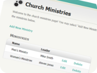 Manage Ministries