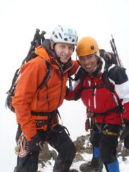 Climber Rhys Jones and a Gulliver Climbing Guide