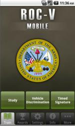 mobile, app, CERDEC, android, army, vehicles, training, ROC-V, TRADOC,