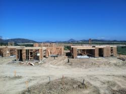 New homes under construction at Brookfield Sentinels at Del Sur in San Diego
