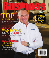 Hireology CEO featured in May 2013 Canadian Business Franchise Magazine