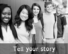 A group of teens with dyslexia invite Explore1in5.org visitors to contribute their personal stories about dyslexia
