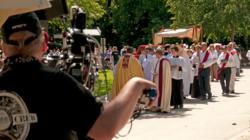 Filming St. Peter's Corpus Christi Procession