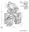 "Sketch of Crompond artist Sarah Haviland's Village of Ossining sculpture exhibition entry, ""Crossroads Aerie"""