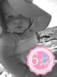 Amanda Dicembrino took this photo with the Baby Stickers Aop, applied a black and white filter and chose the Pink Marine Life sticker set to mark the 6-month milestone