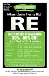 Earth Week Sale at Thrift Town