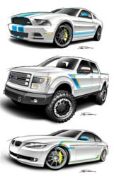 The BILSTEIN Sweepstakes winner will win one of these vehicles: Ford Mustang GT, Ford F-150 truck and BMW 335i