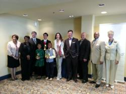 Photo of contest winners, judges, and Springboard President & CEO