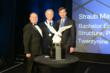 ABC National Chairman Greg Hoberock (far left) and Straub Construction President/CEO Richard Straub (center)