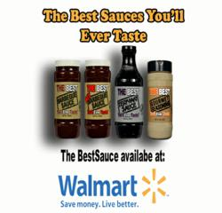 The Best Sauces are available in four flavors: BBQ, Hot BBQ, Teriyaki and Gourmet Seasoning