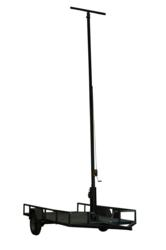 30 Foot Three Stage Light Mast with Trailer Mount