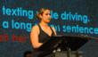 Samo High Student Speaks to School Assembly, part of In One Instant School Safe Driving Program