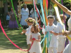 Maypole dance at Highland Hall Waldorf School