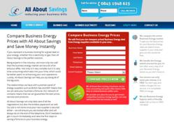 All About Savings, the UK's leading Business Electricity Comparison website has launched a new Business Electricity Suppliers database to help businesses compare Electricity suppliers.