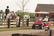Quiet and easy-to-charge Precedent electric golf cars are great for equestrians.