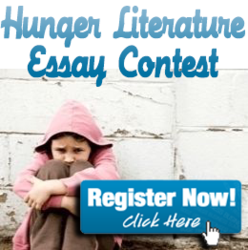 "alt=""What does childhood hunger in America, mean to you? And, win $250 if you're between the ages of 9 - 16."""