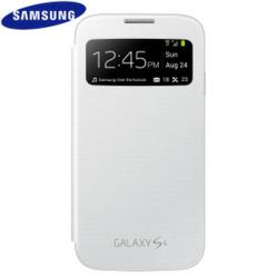 Genuine Samsung Galaxy S4 S View Cover - White