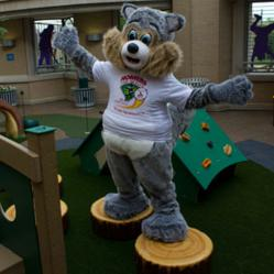 An outdoor play area at Cardinal Glennon Children's Hospital helps patients heal.