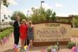 Grand unveiling of new Van Buren Campus signage honoring The Bob & Renee Parsons Foundation