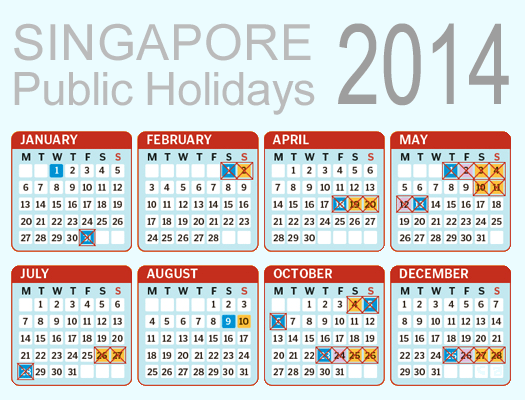 Calendar Singapore Holiday : Singapore holidaymakers to travel more with eight long