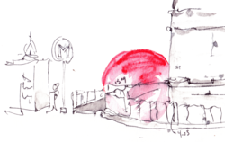RedBall Project Paris - Sketch by Kurt Perschke