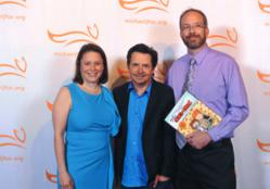 Chris Sparks, his wife Jennifer, and Michael J. Fox