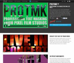 Final Cut Pro X Text - FCPX Title - Effects - Plugins - Apple - Pixel Film Studios - PROTMK