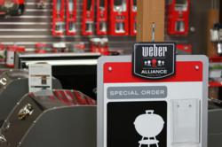 Weber Grills and Accessories displayed at All Things Barbecue.