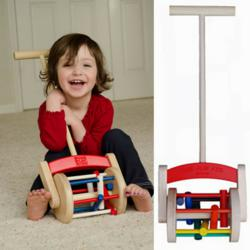 Pure Play Kids Wooden Lawn Mower Push Toy