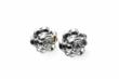 The Petite Rose Earrings in repousse' silver are perfect for any woman of style