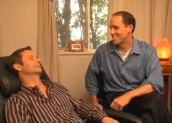 Brennan Smith, hypnotist with Natural Hypnosis at work hypnotising a client