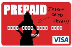celebrity prepaid credit card