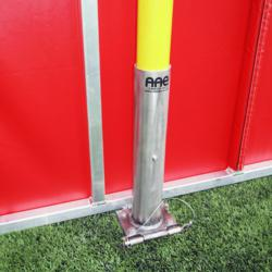 AAE's exclusive Hinged Foul Pole combined with its Removable Outfield Wall make transforming Rutgers' softball field into a soccer field a seamless process.