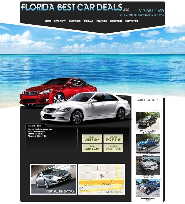 Tampa, Florida Dealer Florida Best Car Deals Inc Announces
