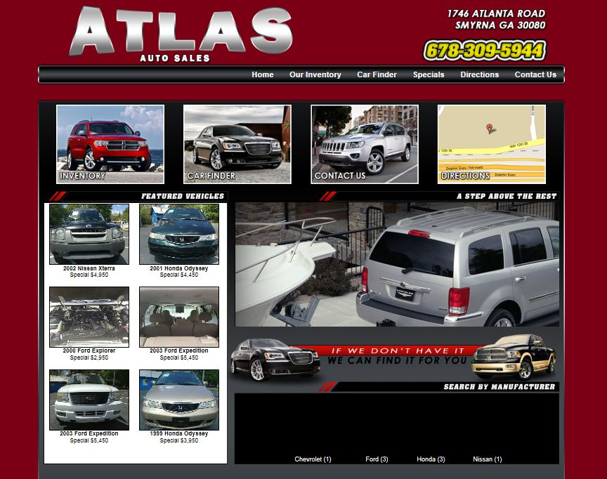 Carsforsale Com Team Releases A New Website For Atlas Auto Sales