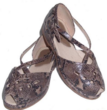 vintage shoe snakeskin sandal from the 1950's