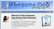 AwesomeDog.com Announces Winner of Their Inaugural Animal Help Giveaway